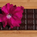 Chocolate Bar with Pink Flower