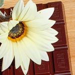 Chocolate Bar with White Flower